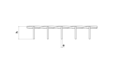 Rejilla electrosoldada con cuadradillo entregirado