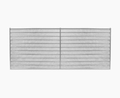 Concealed slats panel