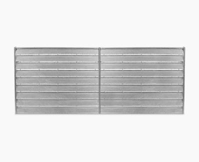 Semi-concealed slats panel
