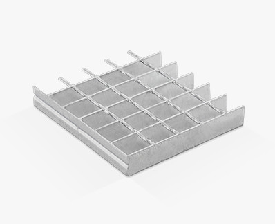 Electrowelded grating with twisted square