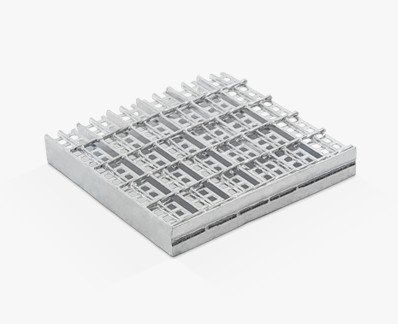 Electrowelded grating with protection profile