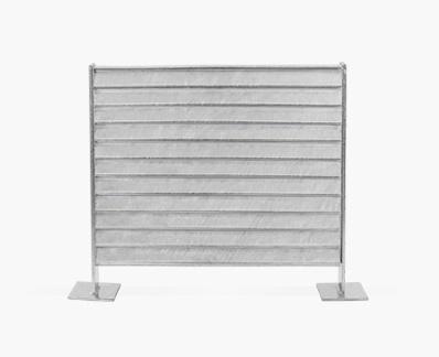 Concealed slats fence