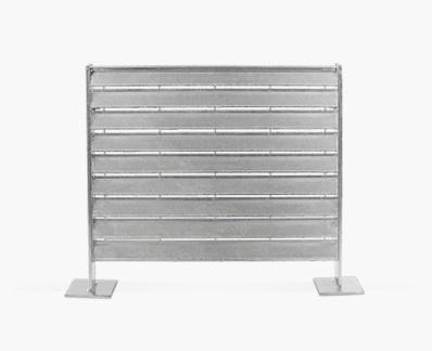 Semi-concealed slats fence